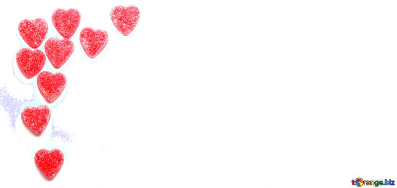 With place for text. Blank Hearts. №18758