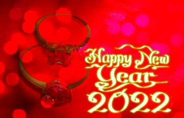 The effect of hard light. Very Vivid Colours. Happy New Year 2020.