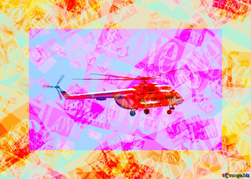 red love  helicopter №44505
