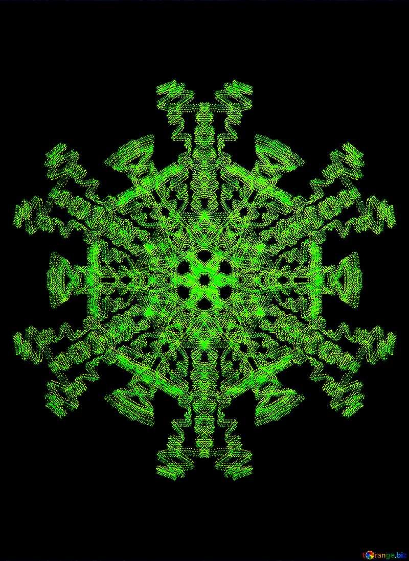 Ornament pattern Futuristic technology background №40335