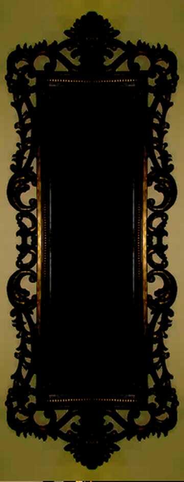 El efecto de la oscuridad. Fragmento. Marco con un patrón.