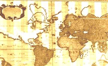Ancient map of the world sepia