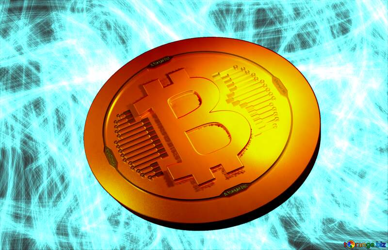 Bitcoin gold light coin Abstract background №40644