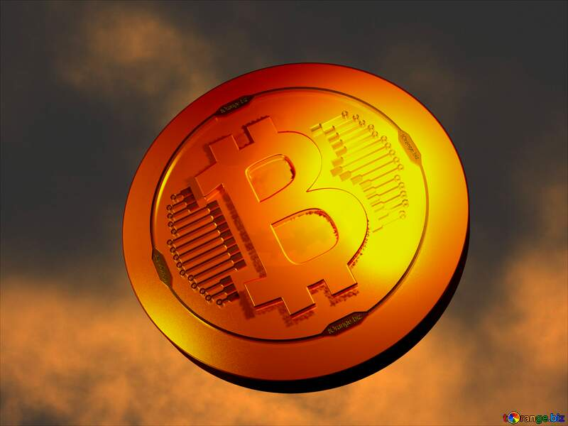 Bitcoin gold light coin background with the Moon №40471