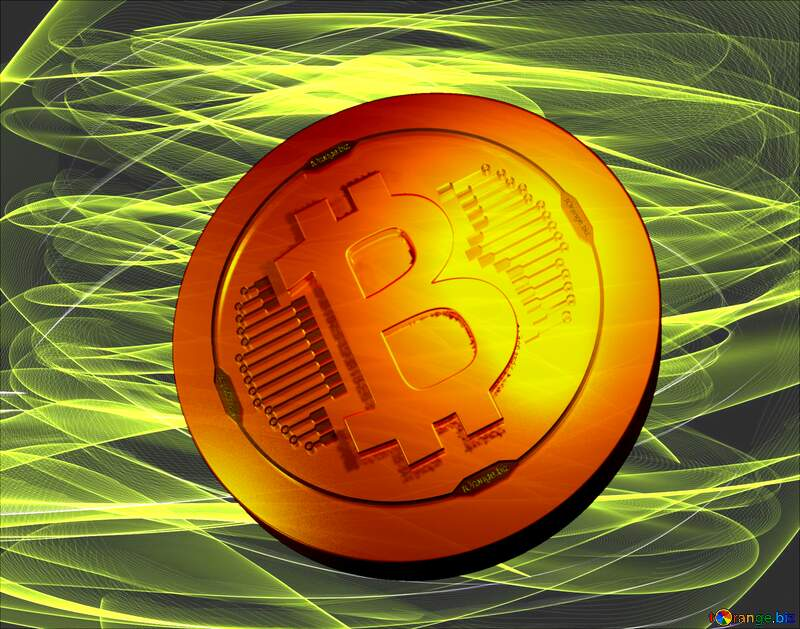 Bitcoin gold light coin A beautiful picture for the background №40597