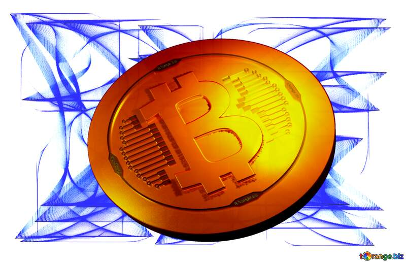 Bitcoin gold light coin Free background for website №40612