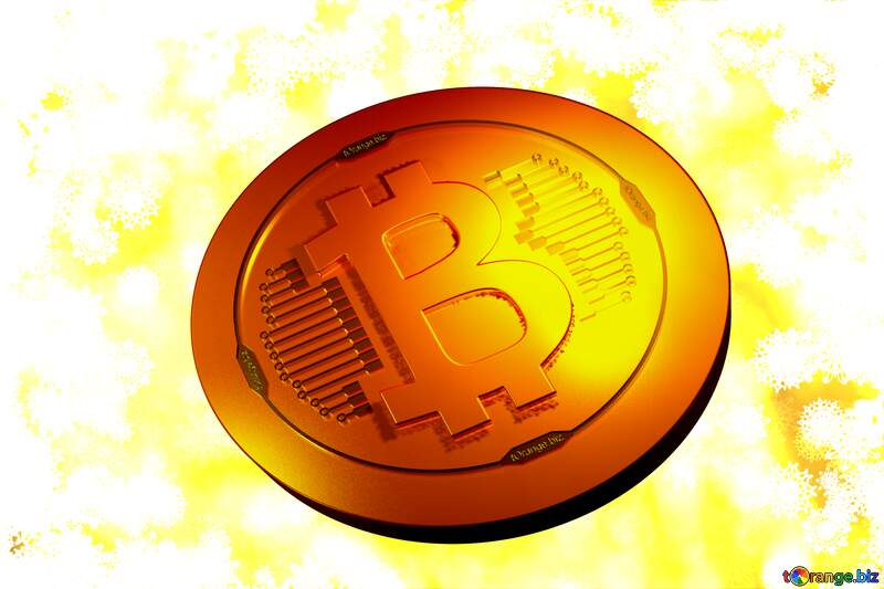 Bitcoin gold light coin New year golden background №40719