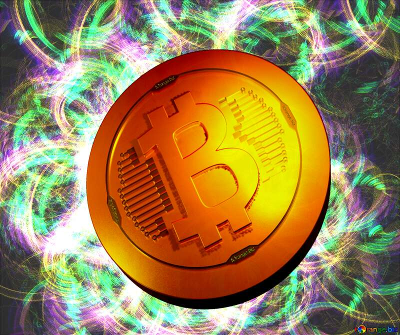 Bitcoin gold light coin Picture to background №40637