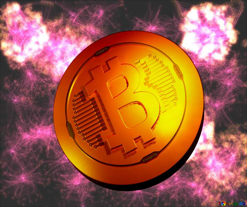 Bitcoin gold light coin Picture bright background №40640