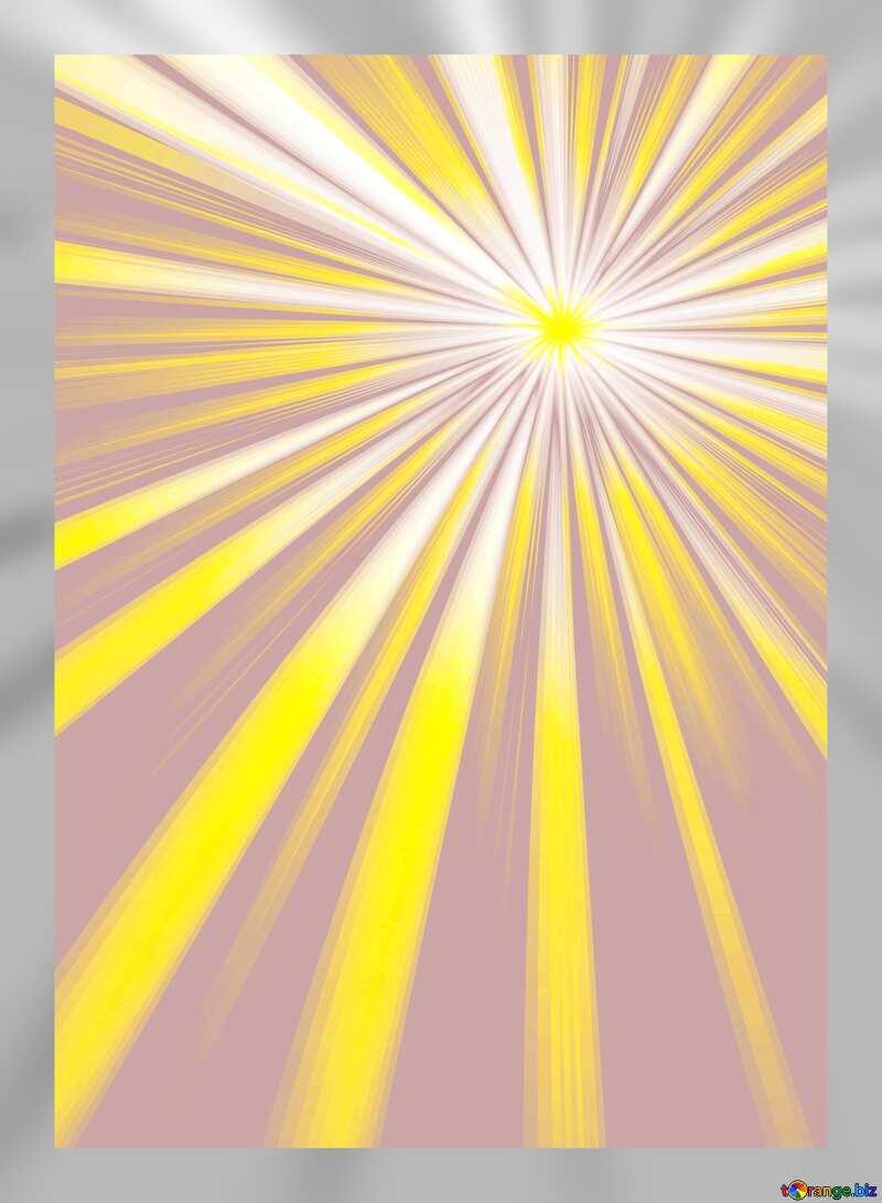 Rays sunlight grey frame №49660