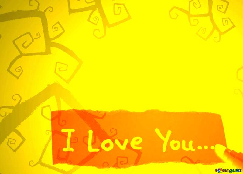 I Love You Halloween background №40593