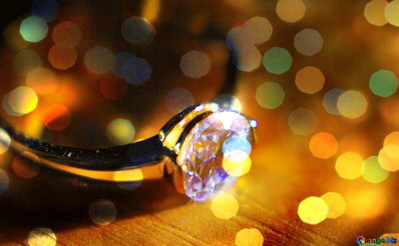 Diamond ring  background №18587
