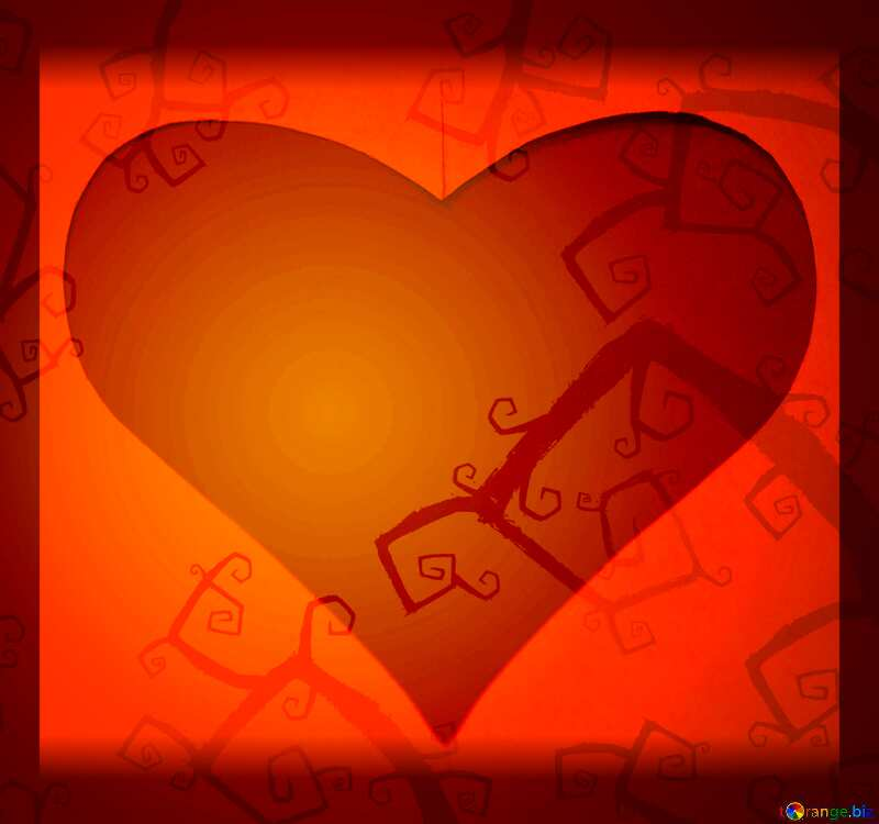 Love Red Geart Halloween background №40593