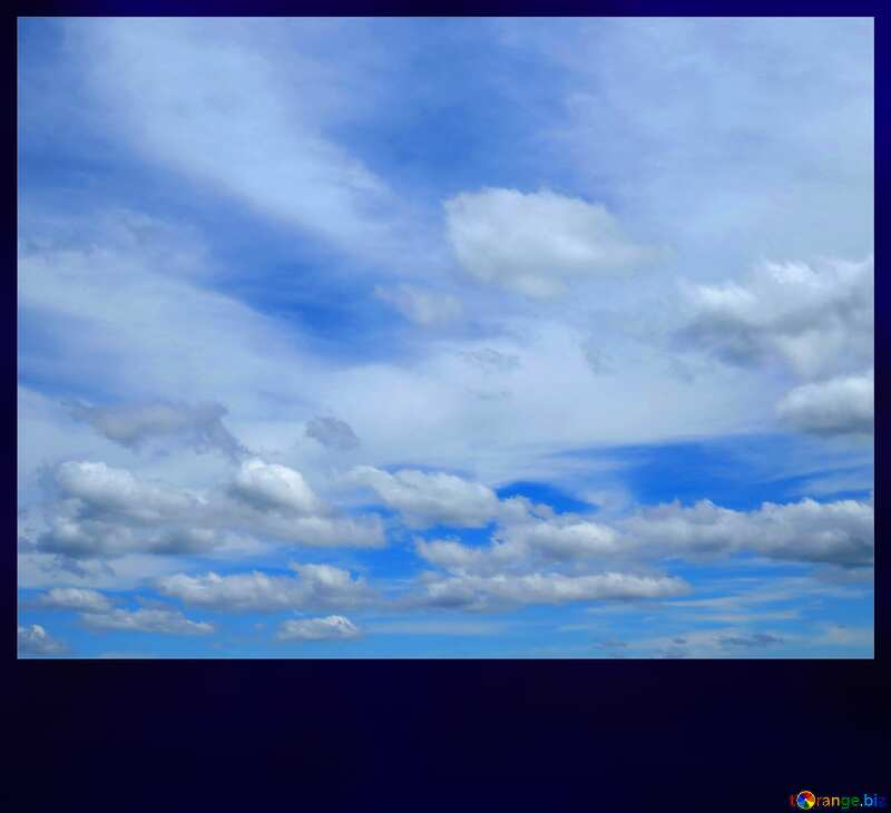 Cloudy sky dark frame №24212