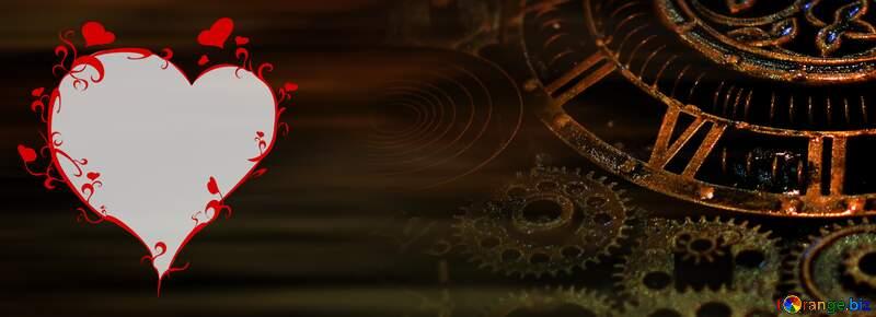 Steampunk  heart love dark  Background №48981