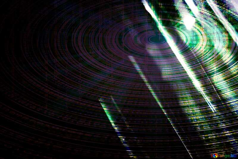 Digital dark  background №1700