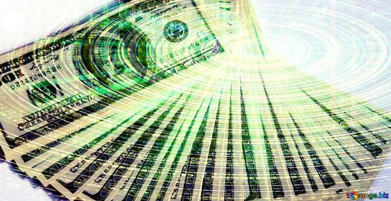 US Dollars U.S. technology futuristic background №1478