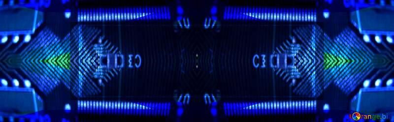 Blue  Technology background №49678