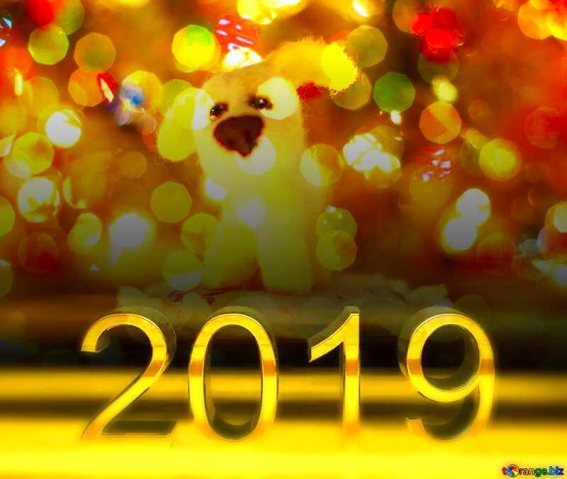 Download free picture 2019 3d render dark background Dog ...