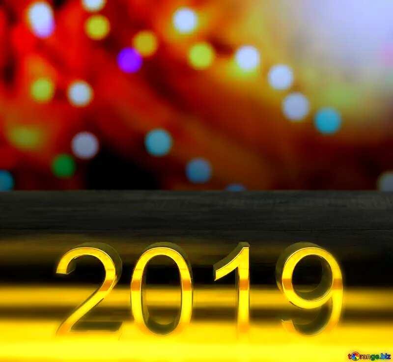 2019 3d render dark background  Wooden Table Blurred №48071