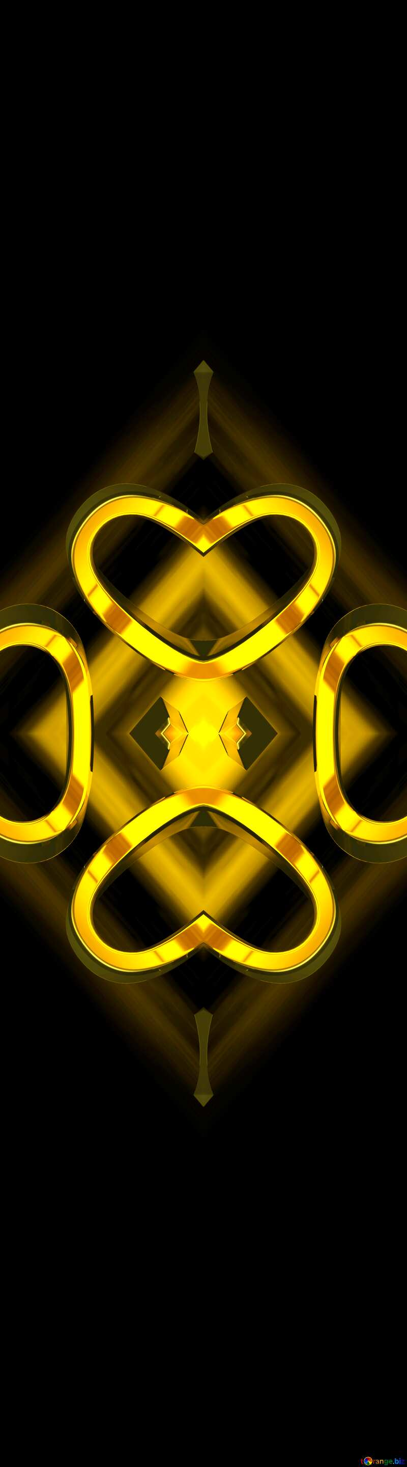 2019 3d render gold digits with reflections dark background isolated Pattern Background №51520