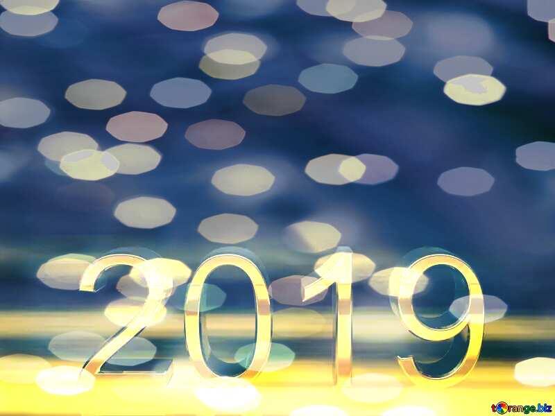 2019  Bokeh Background Christmas Card №51520