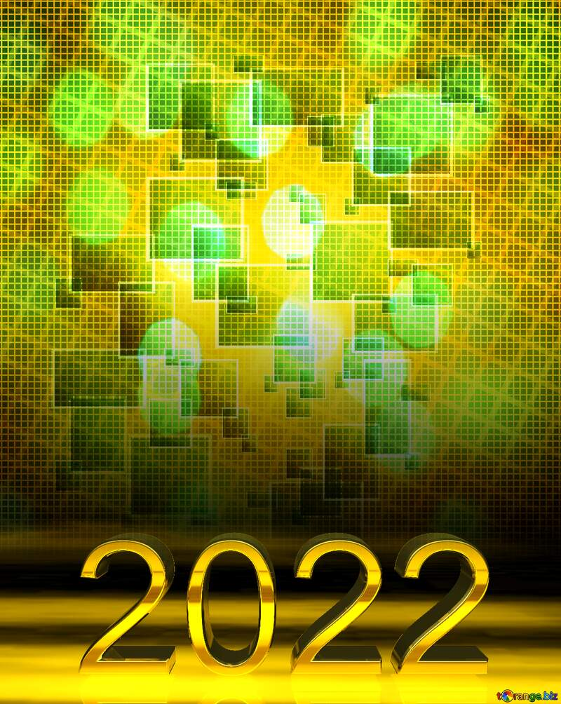 2022 gold digits Techno Line Cell Squares Tech №49678
