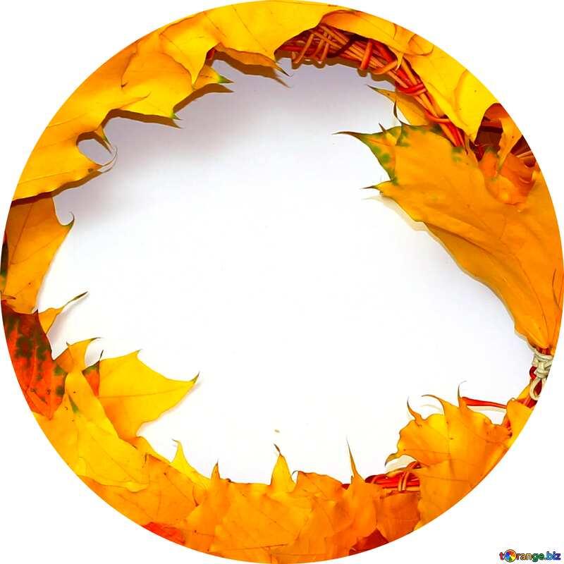 Autumn wreath circle frame №40866