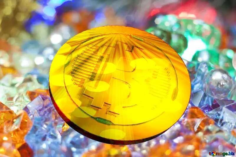 Bitcoin Festive Light Background №6518