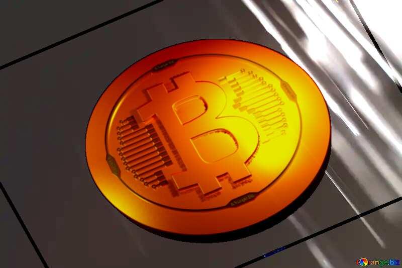 Bitcoin gold light coin Splash water on black background №1700