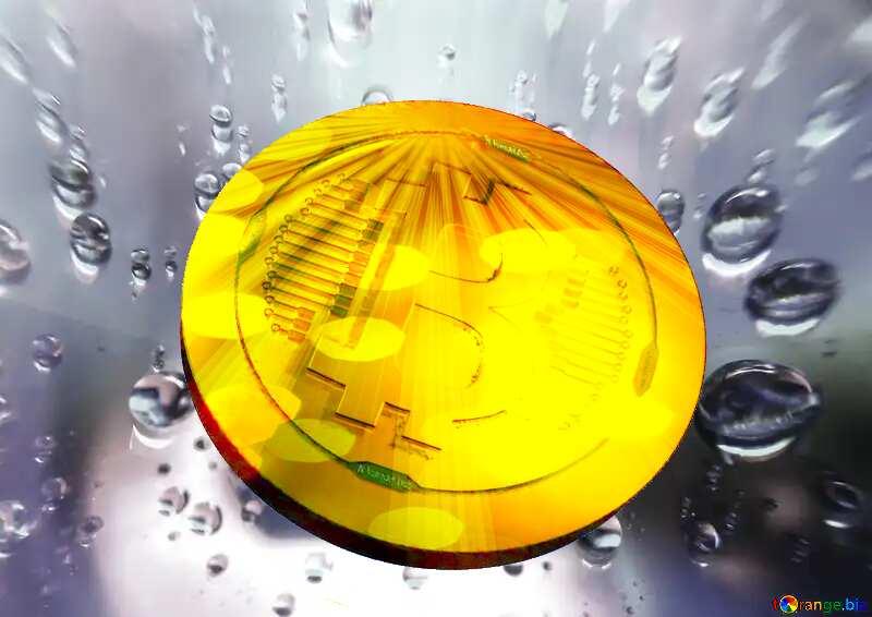 Bitcoin gold Rays coin Rain drops №47981