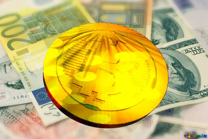 Bitcoin gold Rays coin Money Background №17138
