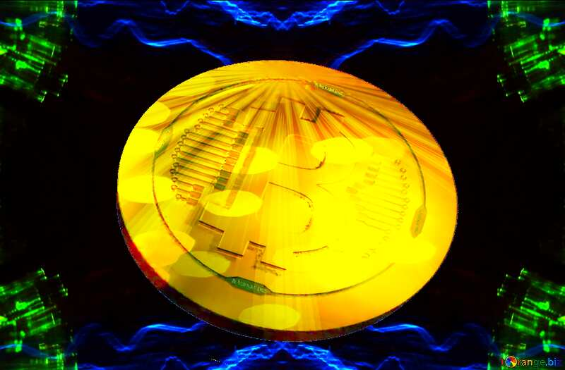 Bitcoin gold Rays coin Waves Pattern №25856