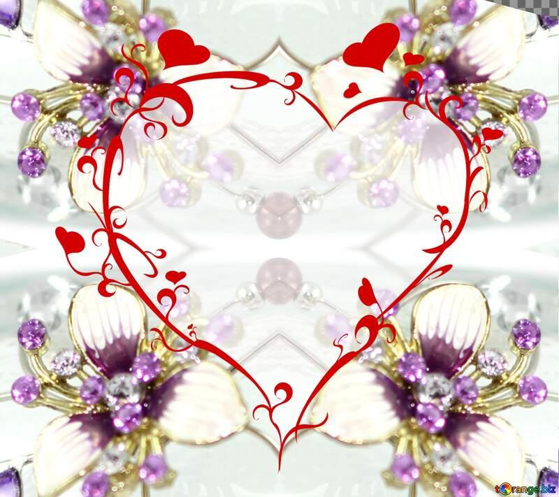 Crystal jewelry heart №18077