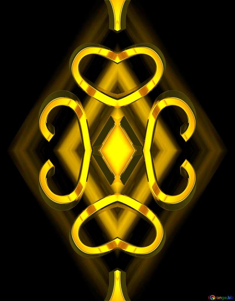 Gold metall  Pattern №51520