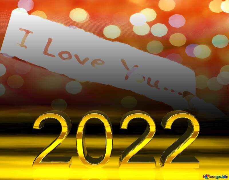 I love you bokeh card background   2022 gold digits №17592