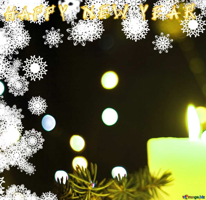 happy new year  Christmas Background №40724