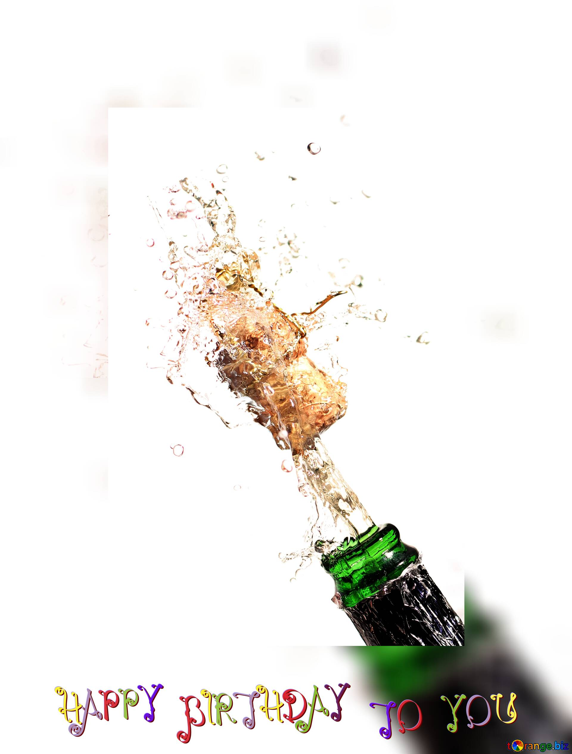 Download Free Picture Happy Birthday Card Champagne Bottle Out Flies On Cc By License Free Image Stock Torange Biz Fx 183669