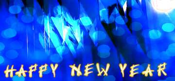 The effect of light. Vivid Colors. Fragment. Card with text Happy New Year.