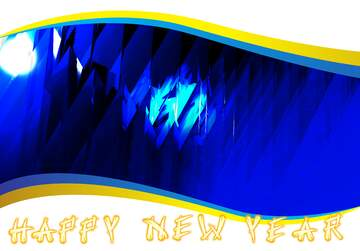 The effect of the mirror. The effect of the hard dark. Holiday card frame. Card with text Happy New Year.