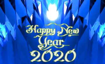 The effect of light. Very Vivid Colours. Fragment. Template. Happy New Year 2020.