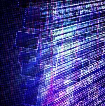 Die Wirkung von viel Licht. Die Wirkung von blau gefärbt. Bruchstück.