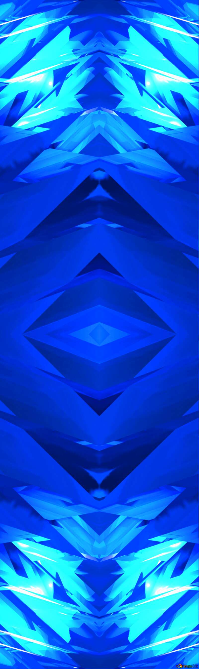 Abstract Computer Blue pattern №51524