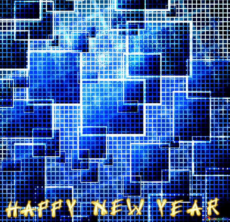 happy new year  tech abstract background №49678