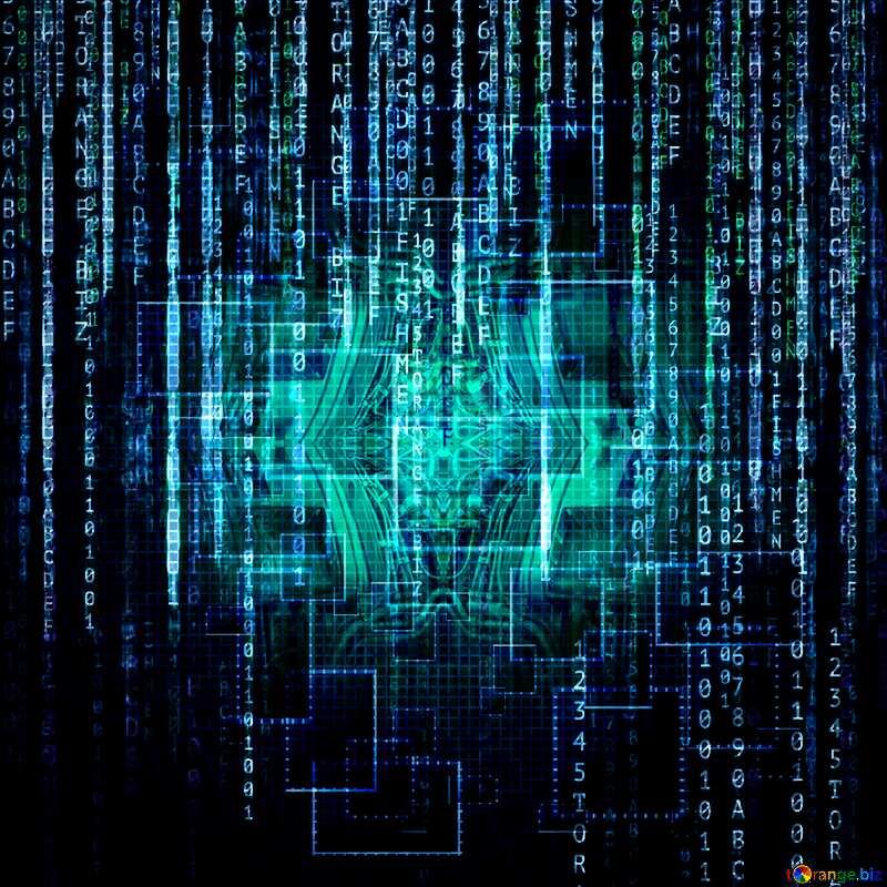 Digital enterprise matrix style Technology background №49678