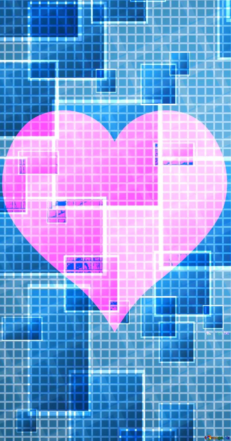 love heart vertical banner  Technology background №49678