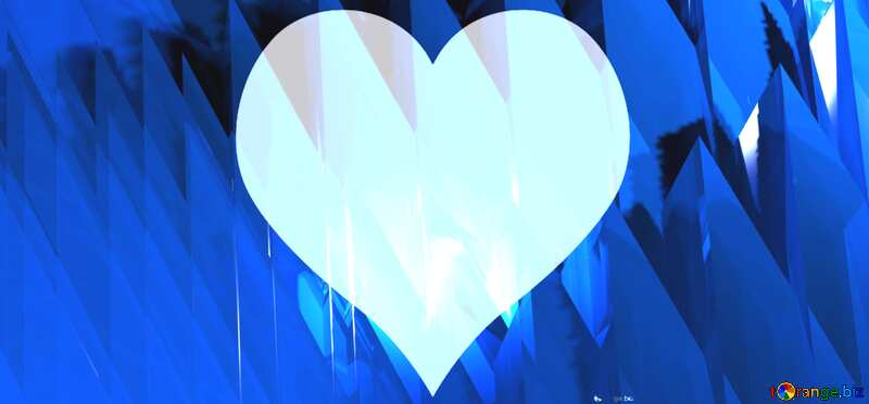 Blue futuristic heart shape. Computer generated abstract background. №51524