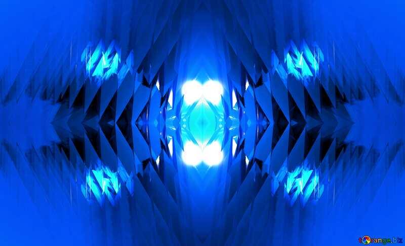 Blue futuristic pattern №51524