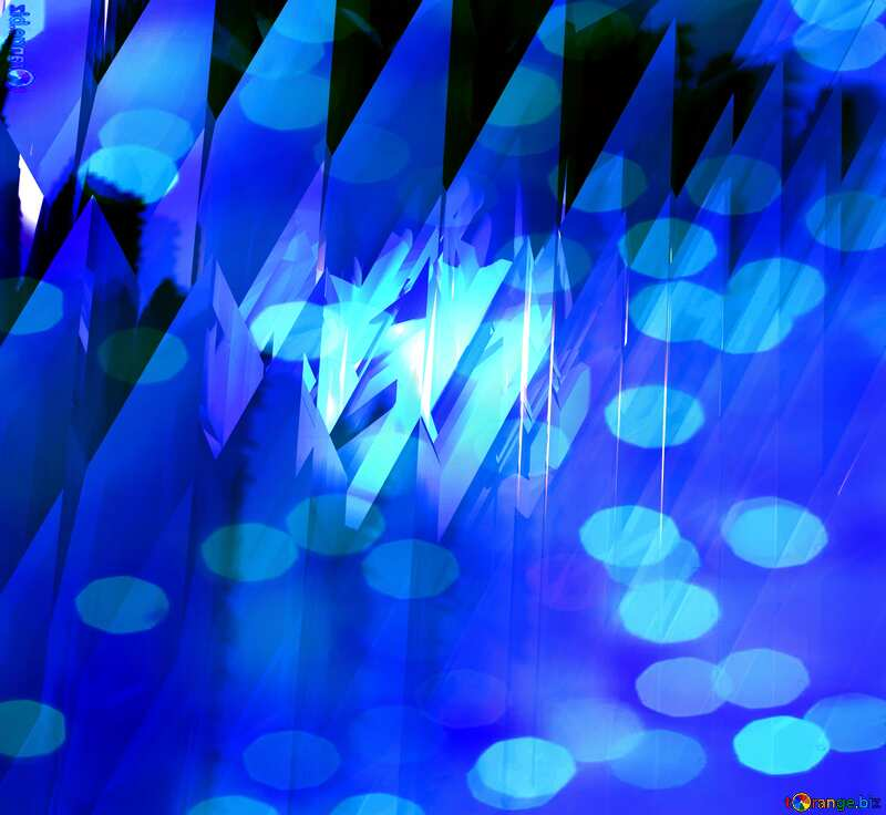 Blue futuristic shape. Computer generated abstract background. Bokeh №51524