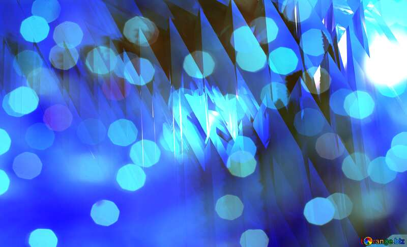 Blue futuristic shape. Computer generated abstract background. Bokeh Lights Greeting №51524